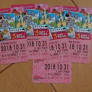 ディズニー(Disney)のディズニーリゾートライン3DAY PASS(鉄道乗車券)