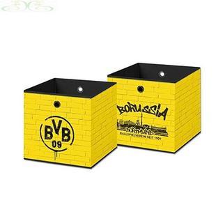 BVB ドルトムント 収納ボックス 黄色い壁 BVB17400600(リビング収納)