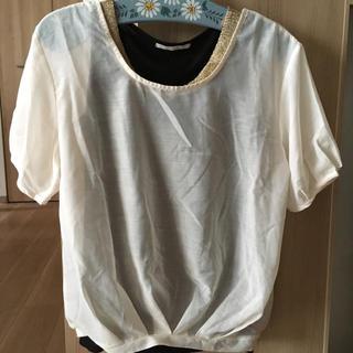 オルベネ(ORBENE)のシースルー トップス シャツ(シャツ/ブラウス(半袖/袖なし))
