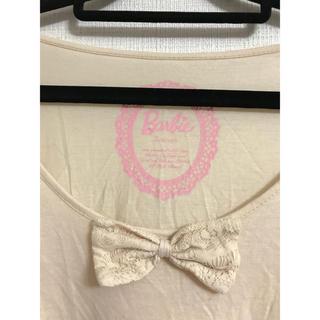 バービー(Barbie)のバービーオフホワイトレースワンピース♡barbieチュニック♡(Tシャツ/カットソー(半袖/袖なし))