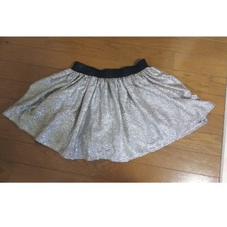 新品 銀色スカート