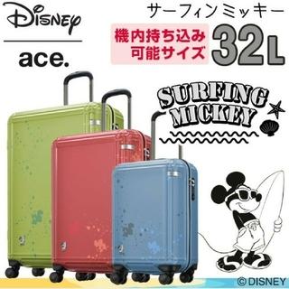 エース(ace.)のエース ディズニー限定版 サーフィンミッキー レッド(スーツケース/キャリーバッグ)