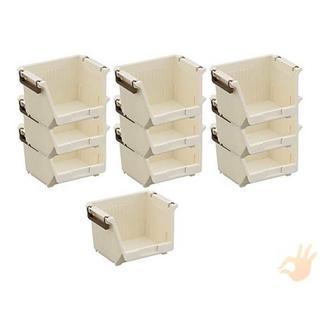 イノマタ化学 小物収納 ツムラック スモールタイプ ホワイト 10個セット(リビング収納)