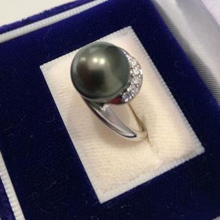 再値下げ 新品 黒蝶真珠パールリング (リング(指輪))