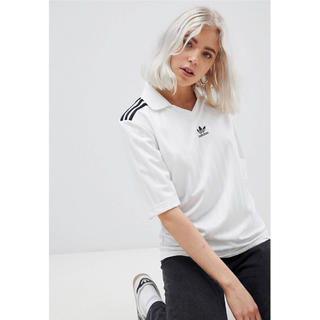 アディダス(adidas)の【Mサイズ】新品未使用タグ付き adidas Tシャツ ホワイト(Tシャツ(半袖/袖なし))