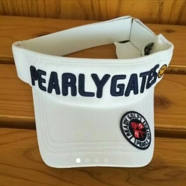 PEARLY GATES(パーリーゲイツ)のパーリーゲイツ サンバイザー スポーツ/アウトドアのゴルフ(その他)の商品写真