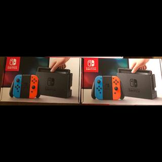 ニンテンドースイッチ(Nintendo Switch)の新品未開封 Nintendo Switch ネオンブルー  ネオンレッド  3台(家庭用ゲーム本体)