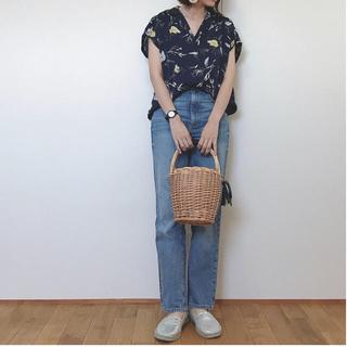 ジーユー(GU)のGU フラワープリント オープンカラーシャツ(シャツ/ブラウス(半袖/袖なし))