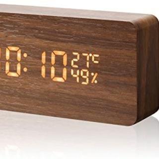 新品☆デジタル LED 目覚まし カレンダー 湿度温度 寝室 台所 プレゼント