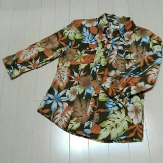 ジーエフ(GF)の古着屋で購入☆ボタニカル柄☆gf七分袖アロハシャツ(シャツ/ブラウス(長袖/七分))