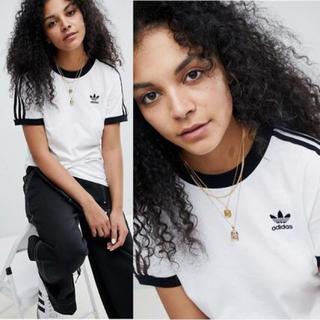 アディダス(adidas)のadidas 3ストライプ半袖Tシャツ UK4(Tシャツ(半袖/袖なし))