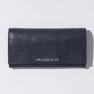 ウノピゥウノウグァーレトレ(1piu1uguale3)の1PIU1UGUALE3リザード型押レザー 長財布MADE IN ITALY(長財布)