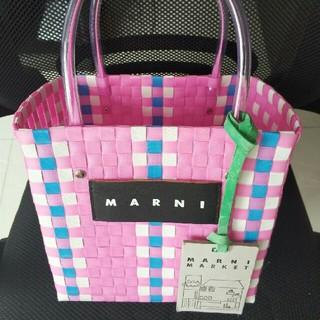 マルニ(Marni)のマルニ MARNI MARKET ピクニックバックハンドバッグ(かごバッグ/ストローバッグ)