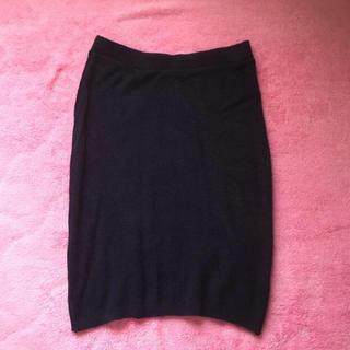 アメリカンアパレル(American Apparel)のスカート ニット タイト ネイビー American apparel(ミニスカート)