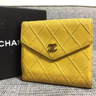 シャネル(CHANEL)のシャネル ココマーク ビコローレ マトラッセ キャビア レザー 二つ折り 財布(財布)