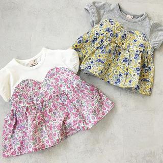 petit main - petit main 新品未使用 100 花柄Tシャツ