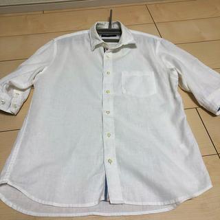 RAGEBLUE - レイジブルー 麻混5部袖シャツ