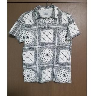 ペイズリー 総柄 シャツ モード ストリート トップス Tシャツ 半袖