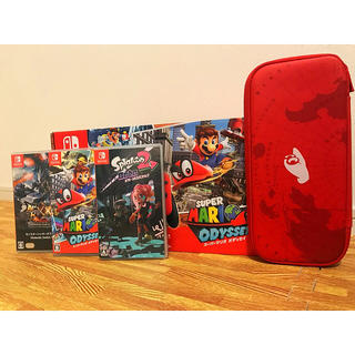 ニンテンドースイッチ(Nintendo Switch)の【美品】スーパーマリオオデッセイセット ソフト3本 セット‼️(家庭用ゲーム本体)