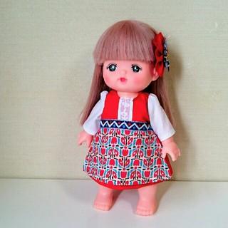 メルちゃんの服 赤い民族衣装 ハンドメイド(人形)