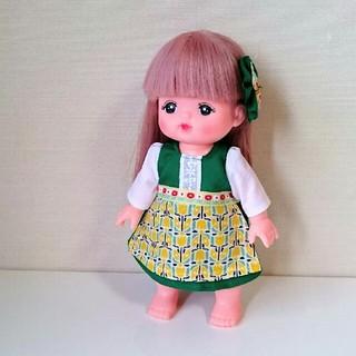 メルちゃんの服 緑の民族衣装 ハンドメイド(人形)