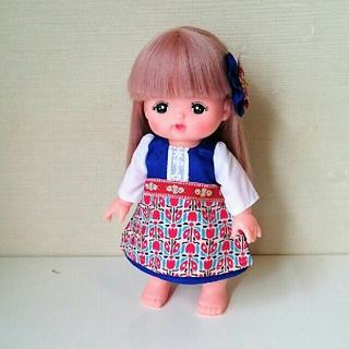 メルちゃんの服 青い民族衣装 ハンドメイド(人形)