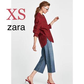ザラ(ZARA)の新品タグ付き ザラ パーフォレーション加工 刺繍 レース ブラウス(シャツ/ブラウス(長袖/七分))