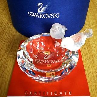 SWAROVSKI - スワロフスキー☆ 小鳥の水盤 SWAROVSKI 置物 クリスタル