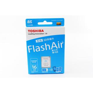 トウシバ(東芝)の★WiFiでスマホに写真を送れる★Wi-Fi SD 16GB FlashAir (その他)