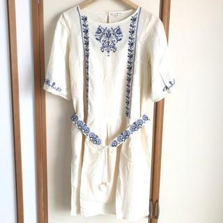 アデュートリステス(ADIEU TRISTESSE)のADIUE TRISTESSE 刺繍ワンピース(ひざ丈ワンピース)