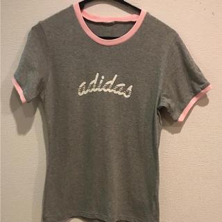 アディダス(adidas)のアディダス ピンクグレーTシャツ(Tシャツ(半袖/袖なし))