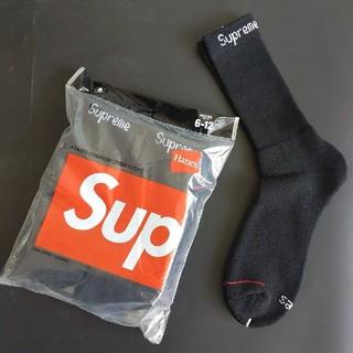 シュプリーム(Supreme)の1足組 Supreme Hanes socks シュプリーム ソックス 黒1(ソックス)