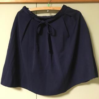 エージー(AG)のAG 紺 タックスカート(ひざ丈スカート)