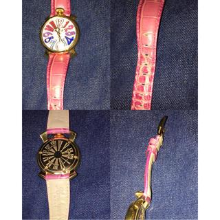 ガガミラノ(GaGa MILANO)のガガミラノ  マヌアーレ40MM  ピンク(腕時計)