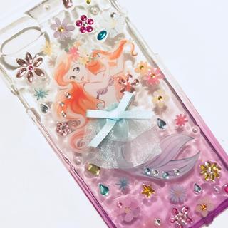 ディズニー(Disney)のiPhone 7 8 ケース カバー ソフト アリエル リトルマーメイド (iPhoneケース)