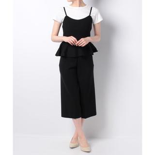 アンドクチュール(And Couture)の新品 定価19440円 アンドクチュール ペプラムキャミ ガウチョセット(ひざ丈ワンピース)