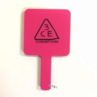 ☆彡新品!人気ハンドミラー ミラー 鏡 3ce  ピンク 可愛い