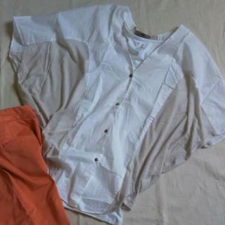 ヘルムートラング(HELMUT LANG)のHELMUT LANG  ヘルムートラング  ブラウス  シャツ  白 ホワイト(シャツ/ブラウス(半袖/袖なし))