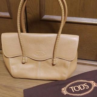 トッズ(TOD'S)のTOD'S トッズ バッグ 美品 キャメルベージュ(ショルダーバッグ)