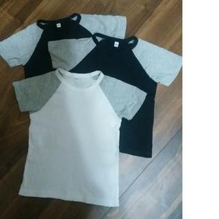 MUJI (無印良品) - ★断捨離中★中古 美品 無印良品 Tシャツ 3枚セット♪サイズ100