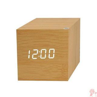 ZOCIYA 改良版 目覚まし時計 LED 木目調(置時計)