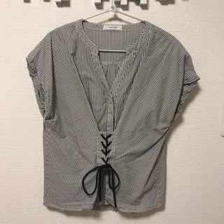 ジーナシス(JEANASIS)のコルセットシャツ(シャツ/ブラウス(半袖/袖なし))