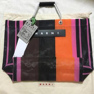 マルニ(Marni)のMARNI  マルニ ストライプ バッグ     ピンク(トートバッグ)