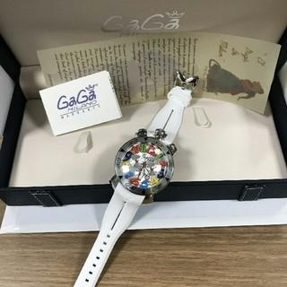 ガガミラノ(GaGa MILANO)の GaGa MILANO ガガミラノ 腕時計 48mm  男女兼用 ホワイト(腕時計(アナログ))