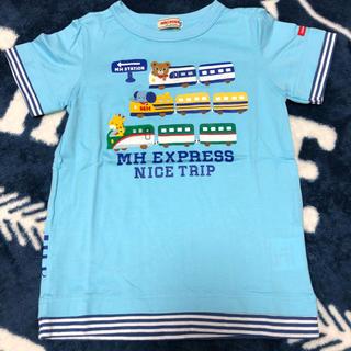 mikihouse - 美品 ミキハウス エクスプレスTシャツ ブルー
