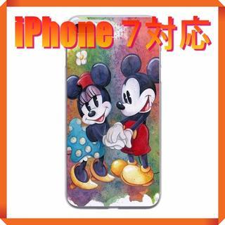 ディズニー(Disney)の★180705★ ミッキー ・ ミニー iPhone 7 ソフトケース ★(iPhoneケース)