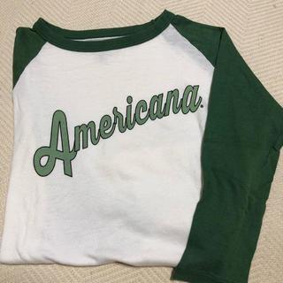 アメリカーナ(AMERICANA)のアメリカーナ  ラグラン Tシャツ(Tシャツ(長袖/七分))