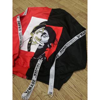 ★ 【最安値♥】ピエロジャケット MA-1 韓国 ストリート系 黒/赤★(ナイロンジャケット)