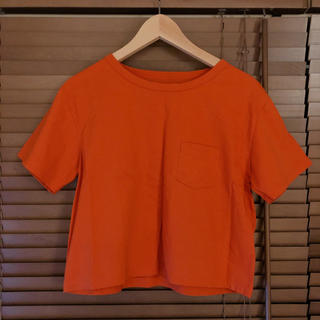 ワンエルディーケーセレクト(1LDK SELECT)のID DAILYWEAR オレンジTシャツ(Tシャツ(半袖/袖なし))