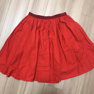 アクアガール(aquagirl)の赤 フレアスカート(ひざ丈スカート)